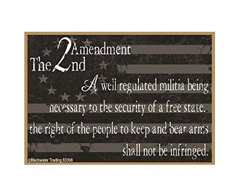 Blackwater Trading American Flag 2nd Amendment Gun Safe Fridge Refrigerator Magnet 3.5