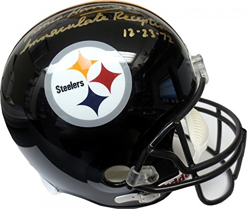 - Franco Harris Immaculate Reception Autographed Steelers Full-Size Helmet - JSA
