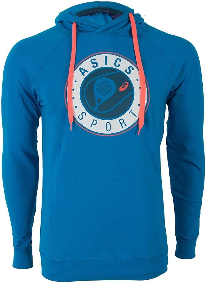 ASICS Sudadera Padel Graphic Hoodie Azul: Amazon.es: Deportes y ...