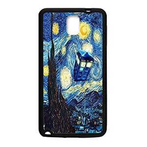 Doctor Who Tardis Police Call Blue Box Starry Night Art Pattern Case For Samsung Galaxy Note 3