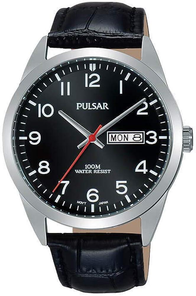 Pulsar Reloj Analógico para Hombre de Cuarzo con Correa en Cuero PJ6067X1