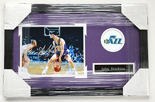 John Stockton Utah Jazz Signed Autographed 22