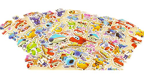 LOVE Toy 10-Sheets Love Super Wings 3D Puffy Stickers