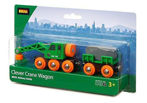 Brio Clever Crane Wagon Set - Wooden Crane Set