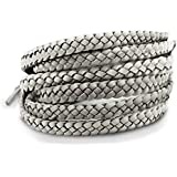 OUTXPRO 6 Mosquito Bug Insect Repellent Leather Bracelets in 10 Colors- Family Pack - DEET Free Wristands Pest Control Repeller No Spray All Natural Plant Oils Repelling Product - 3 x 2 Color Packs (Color: Silver)