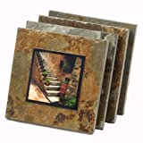 Italy Natural Slate Coaster Set For Sale