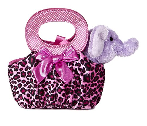 Aurora World Fancy Pals Plush Toy Pet Carrier, Elephant Jung