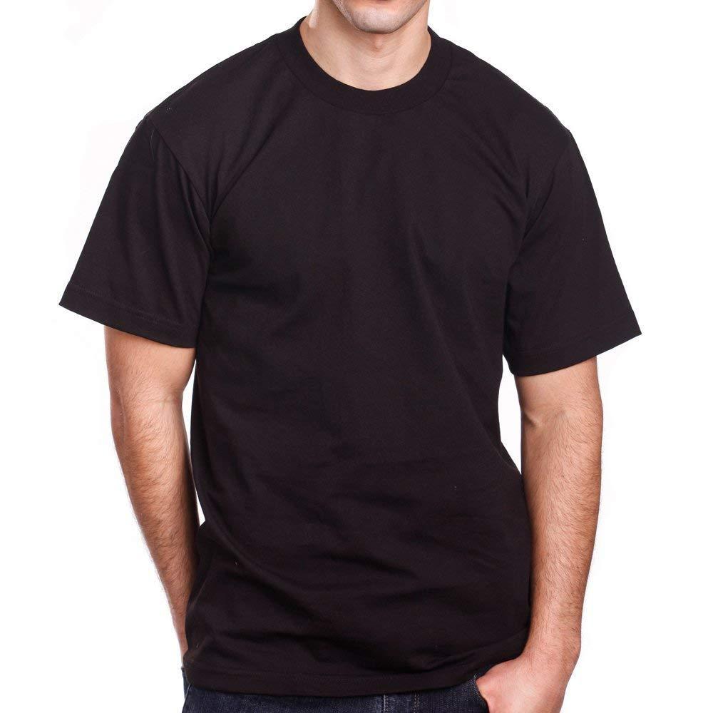 Pro 5 Mens 3 Pack Super Heavy Short Sleeve Crew Neck T Shirt