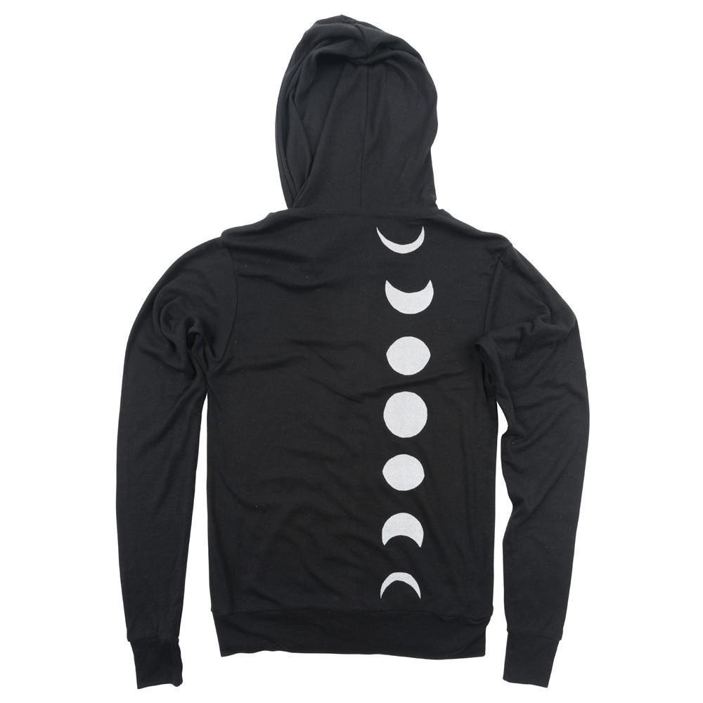 Moon Phase Unisex Lightweight Zip-Up Hoodie