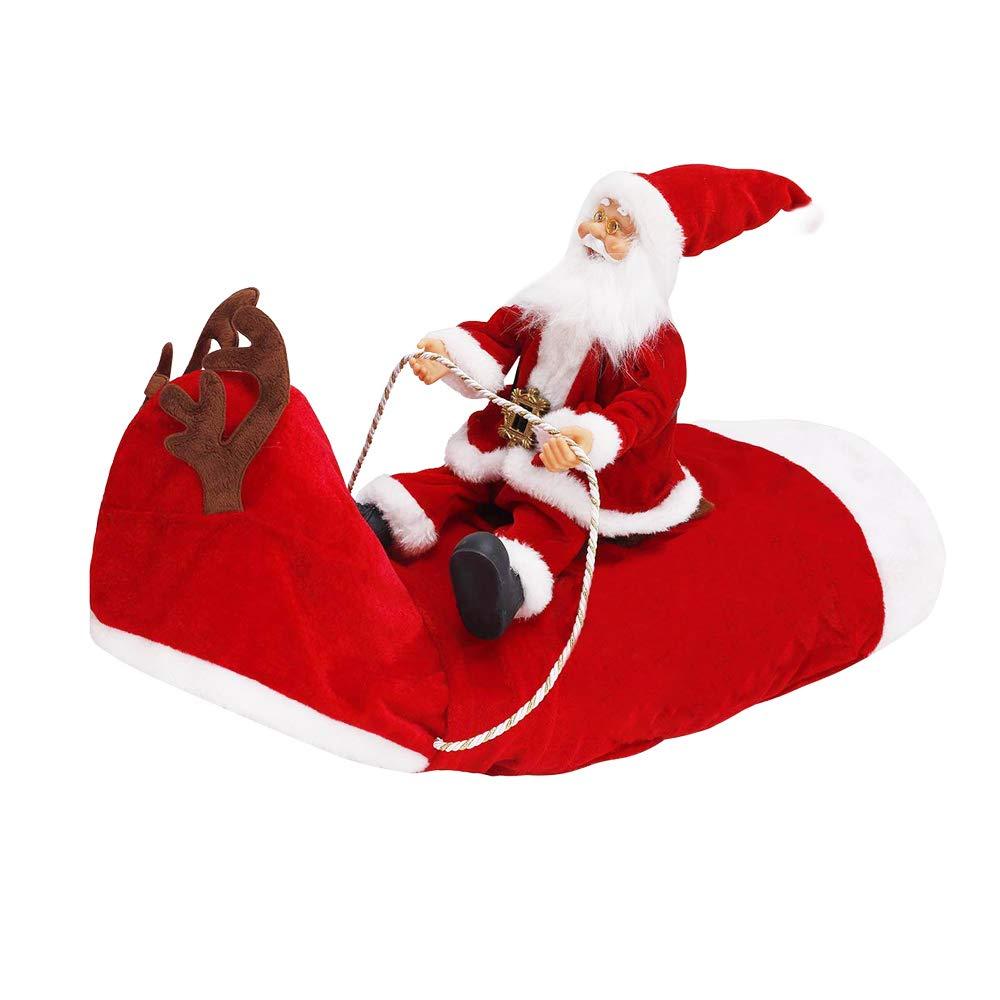 XL Kyerivs Costume de No/ël pour Animaux de Compagnie Courir Santa Riding on Dog Costumes pour Chats pour Animaux de Compagnie Costumes de No/ël Costume pour Chien pour P/ère No/ël