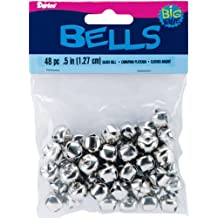 "Brand New Jingle Bells .5"""" 48/Pkg-Silver Brand New"