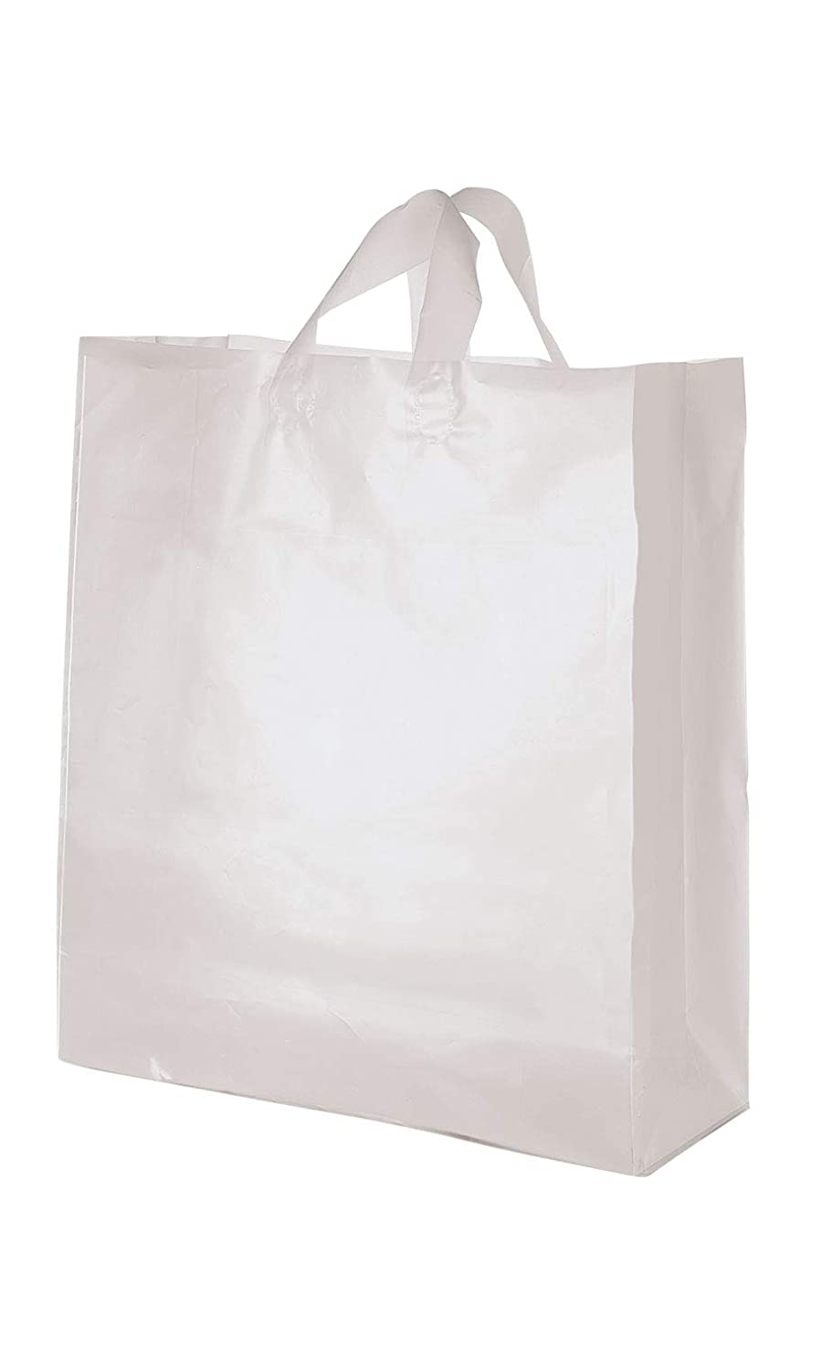 Frosted Heavy Plastic Gift  Shopping Bags Handle 16x6x12 Black Lot of 100 New