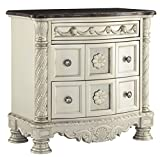Signature Design by Ashley B750-93 Cassimore Nightstand, Silver For Sale
