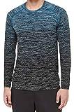 Lululemon Mens Metal Vent Tech Long Sleeve Shirt (Baltic Blue Ombre, XL)