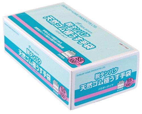 【ケース販売】 ダンロップ 脱タンパク天然ゴム極うす手袋 L ナチュラル (100枚入×20箱) B00JT5W3PC