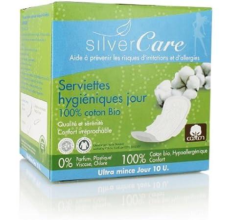 Silvercare - Toalla ultrafina para mujer, 100% algodón orgánico ...