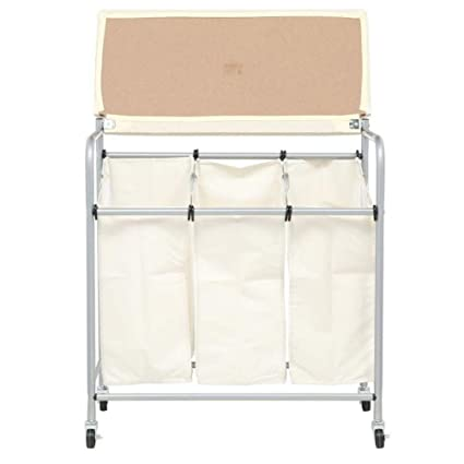 81ed0dab9118 Amazon.com: Wonderrun Laundry Basket Bag Square Rolling Wheels for ...