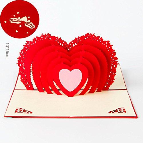 Paper Spiritz Love in the Heart 3D Pop up Greeting Card Best (3d Card Heart)