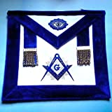 Master Mason Synthetic Heavy Leather Silver Tassels luxury Royal blue Chenille