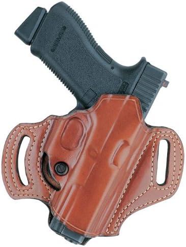 Belt Slide Leather Gun Holster Left Hand Tan U.S.A. Kimber,Beretta,Colt,Sig..
