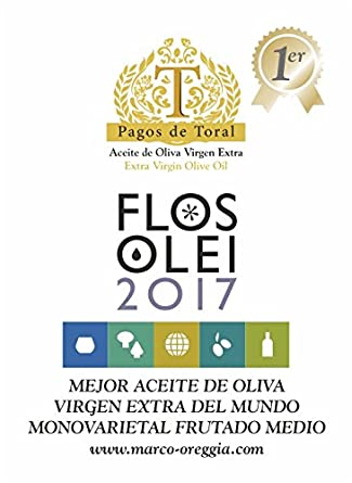 Pagos de Toral - Aceite de Oliva Premium - Picual Selección Gourmet - 500 ml - de Jaén - Mejor Aceite de Oliva Virgen Extra del Mundo - Flos Olei 2017: ...