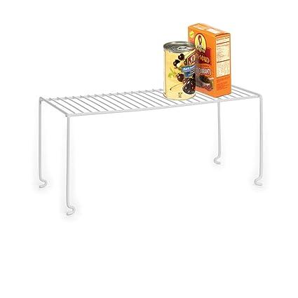 Amazon Com Homz Stackable Shelf Pantry Organization White Coated