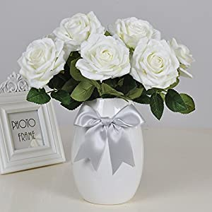 The Rose emulation flower feels moisturizing modern minimalist living room dining table ornaments boutonniere artificial flowers Silk flower plastic flowers dried flower 32×28cm 84