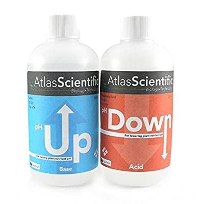 Hydroponic Reevaluate Control pH Up and pH Down Kit Two 8oz Bottles