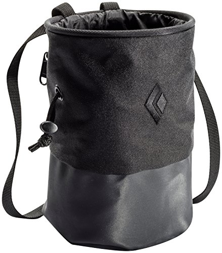 Black Diamond Mojo Zip Chalk Bag - Black (Mountain Chalk Bag)