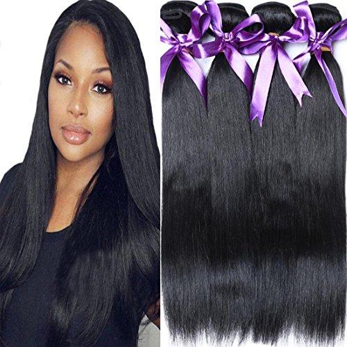 - Cranberry Hair Brazilian Virgin Hair Straight Hair 4 Bundles 100% Unprocessed Human Hair Extention Nature Color 100G/Bundle(16