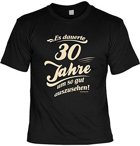 T-Shirt - Es dauert 30 Jahre um so gut auszusehen - mit Mini Shirt - Geschenk Set mit lustigem Spruch als ideales Geburtstagsgeschenk