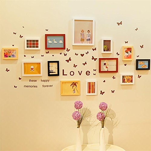 WillST Multi Picture Photo Frames Home Wall Decoration Wooden Frame ...
