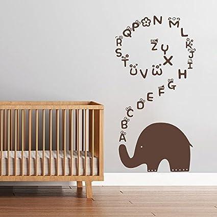 Amazon.com: Wall Decal Decor Baby Nursery Wall Decal - Elephant ...