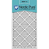 Nordic Pure 20x30x1M14-2 MERV 14 AC Furnace Filter 20x30x1 Pleated Merv 14 AC Furnace Filters Qty 2