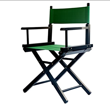 Silla de director de lona de madera maciza silla plegable ...