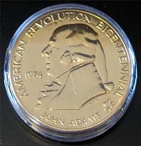 1974 Bronze Bicentennial Commemorative Medal - John Adams