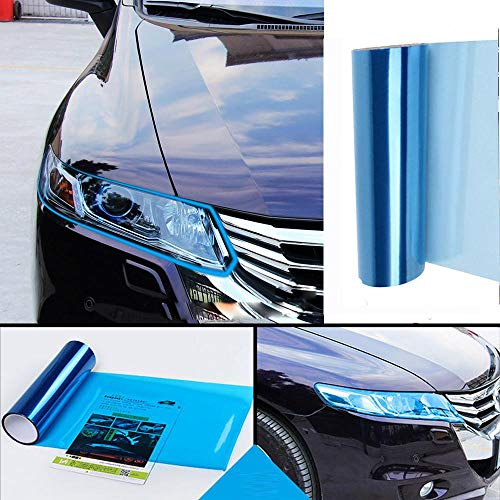 CarSticker Light Lamp Color Change Body Car Headlight Fog Lamp Protect Film Vinyl Wrap Overlays Sheet Sticker #Bill Blue