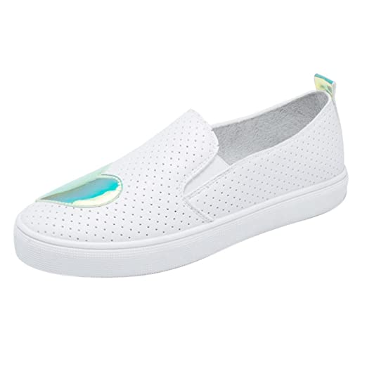 ❤️ Women Flats Shoes, Xinantime Ladies Breathable Heart Shaped Small White Shoes Casual Flats Shoes by Xinantime  Women Shoes