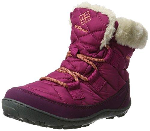 - Columbia Girls' Youth Minx Shorty Omni-Heat Waterproof Snow Boot, Deep Blush, Bright Peach, 5 M US Big Kid
