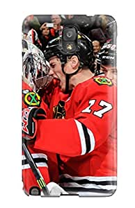 Tpu Case Cover Compatible For Galaxy Note 3/ Hot Case/ Chicago Blackhawks (84)