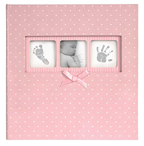 Pink Album Traditional - Discovery Channel Innova Editions 50-Page Baby Polka Dot Book Bound Traditional Album, Pink
