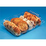 Large Plastic Disposable Clear BOX - Salad Cake Muffin Pastry - 50PCS - 2011