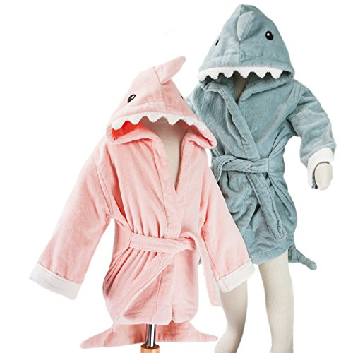hoodiekinz-baby-shark-robe-for-infants-and-toddlers-pink-small