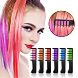 temporary hair dye for kids - Ameauty Temporary Hair Chalk, Non-Toxic Washable Hair Color Comb for Party Cosplay DIY, 6 Colors