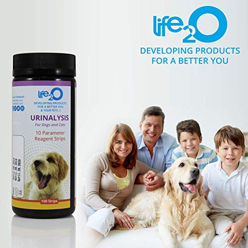 10-in-1 Dog and Cat Vet-10 Urine Test Strips 100ct, Veterinarian Lab Grade Pet Health Wellness Urinalysis Home Testing Kit, Detect Urinary Tract Infections - UTI, Diabetes, Kidney and Liver Function 7