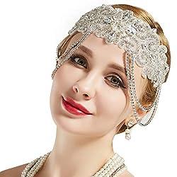 1920s Flapper Headband Roaring Bridal Headpiece