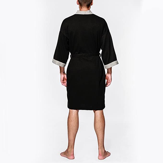 Zhhlaixing Unisex Hombres Mujer Cotton Dressing Gown Super Soft Full Length Bata de baño Pajamas,Simple&Comfy: Amazon.es: Ropa y accesorios