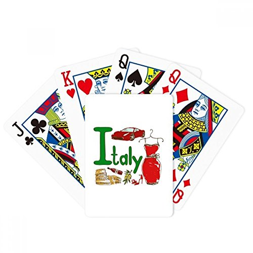 Italy National symbol Landmark Pattern Poker Playing Card Tabletop Board Game Gift by beatChong