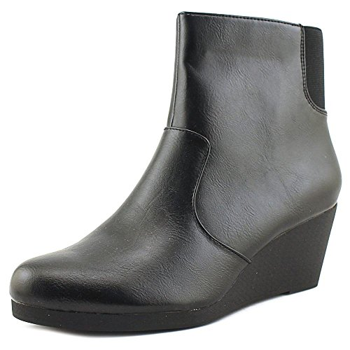 Black Smooth Heel Women's Wedge Noise Black Boot Ankle LifeStride p0Rqw
