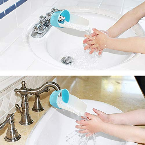 Faucet Extender, 6 Pack Bathtub and Kitchen Faucet Sink Handle Extender for Toddlers, Kids, Babies by beiya (Image #1)